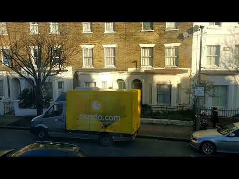 Ocado LEMON VAN Delivery | London UK