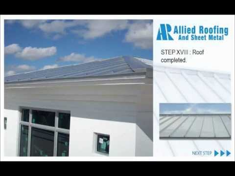 Presentation re- roof process metal roof florida