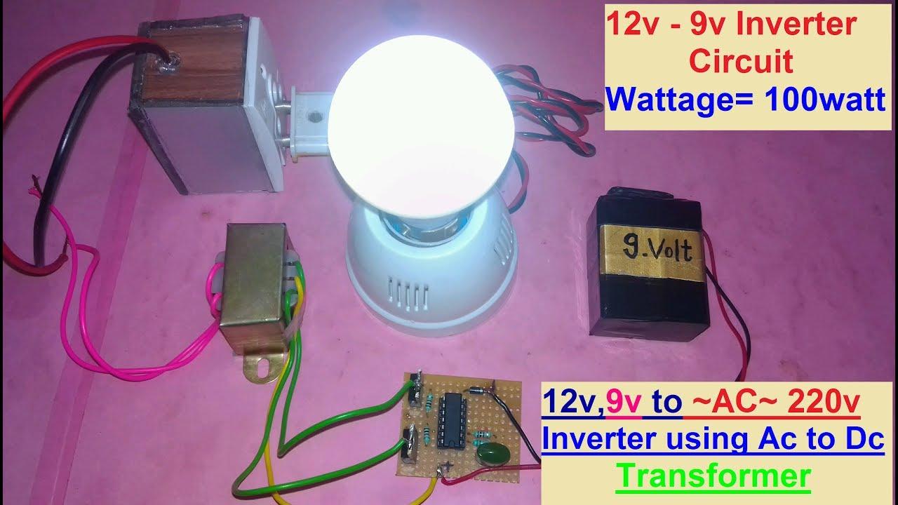 How To Make Inverter From 12v 9v Dc Ac 220v Build A Homemade Power 100 Watt Circuit