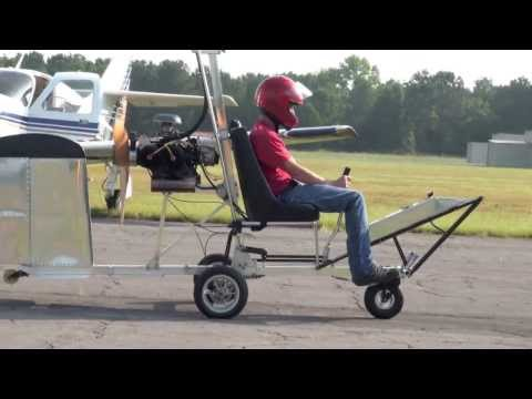 Modified Bensen Mac (McCullough engine) gyroplane, John Prock