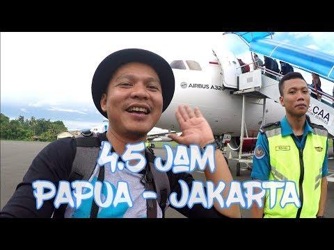Terbang 4.5 Jam Non Stop Dari Papua Ke Jakarta Dgn Batik Air (Papua Vlog-110)
