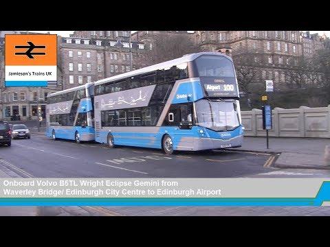 Volvo B5TL Wright Eclipse Gemini From Waverley Bridge Edinburgh City Centre To Edinburgh Airport