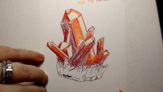 Crystals with Colored Pencil