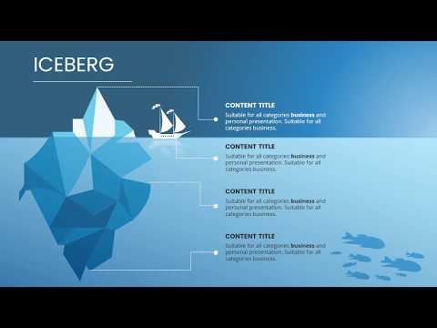 iceberg diagram powerpoint template presentation templates