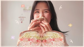 샌드위치를 시켰는데 벽돌이 왔다.. 대왕게살샌드위치 먹…