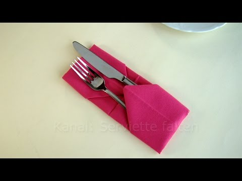napkin folding pouch how to fold a napkin pouch eays. Black Bedroom Furniture Sets. Home Design Ideas