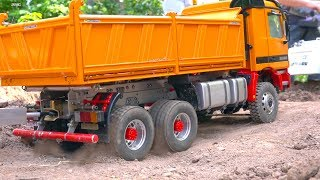 STUCKING RC TRUCK I HARD CONSTRUCTION-SITE I MERCEDES-BENZ SK I WHEEL LOADER TRANSPORT
