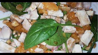 Новогодний салат из шпината и мандарин / Секретный рецепт