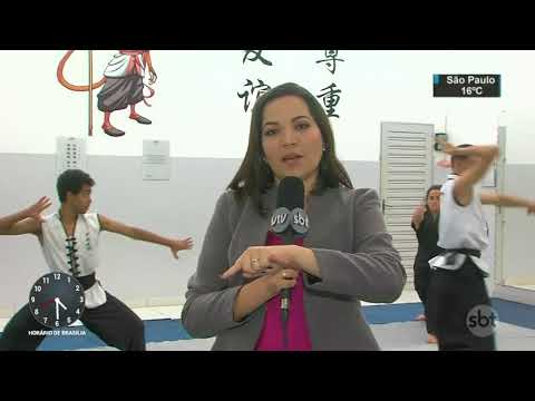 Lutadores de Kung Fu fazem campanha para disputar campeonato | SBT Notícias (02/09/17)