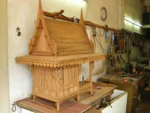 ตัวอย่าง ศาลฯทรงไทย @ ร้านบ้านไม้