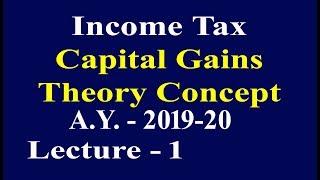 Income Tax - Capital Gain, Lecture-1