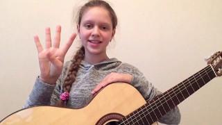 """Музыкальный урок 4! Аккорд A7! Играем песню """"Катюша"""" на гитаре!"""