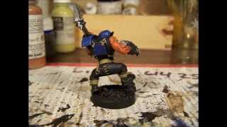orange ork warhammer 40k painted from start to finnish