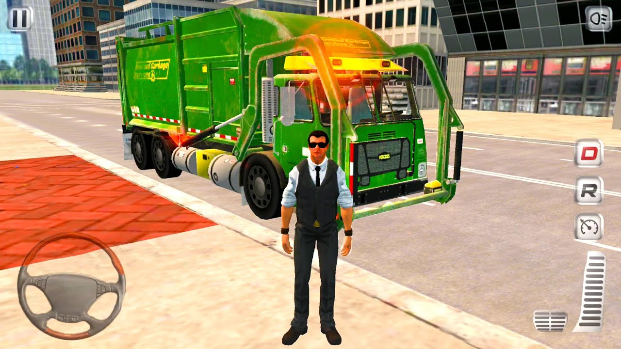 Trash Truck Driver Simulator 2020 - Street Cleaning Game - Android Gameplay