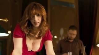 Beautiful girl  huge breasts  playing pool(billiards)