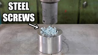 Can You Turn Steel Screws into Solid Steel with Hydraulic Press
