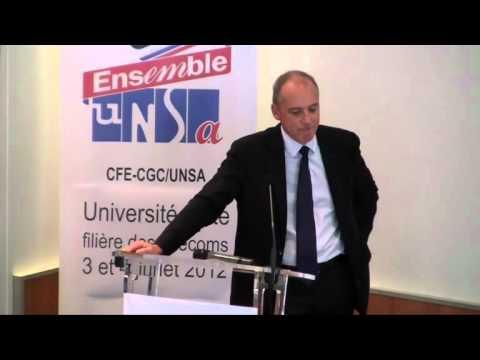 Les enjeux de la filière télécom : Stéphane Richard université d'été juillet 2012