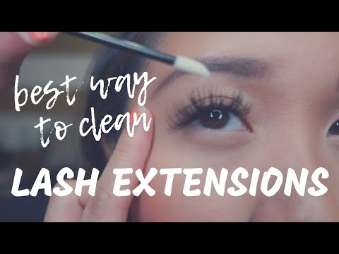 Eyelash Extensions | Best Way to Clean Eyelash Extensions 2018