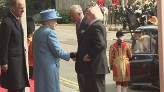 The Queen greets Irish President on state visit