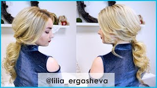 Прическа небрежный хвост / Прически на выпускной видео урок 👑 Prom hairstyle with ponytail