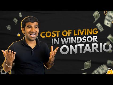 COST OF LIVING IN WINDSOR ONTARIO