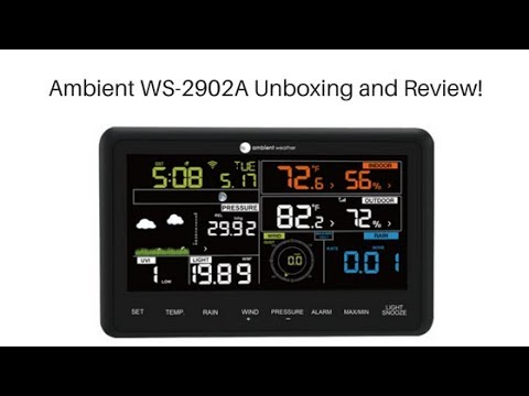 Ambient Weather WS-2902A MiFi/WiFi Display Console