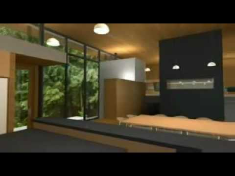 Interior casa moderna youtube for Casas modernas con piscina interior