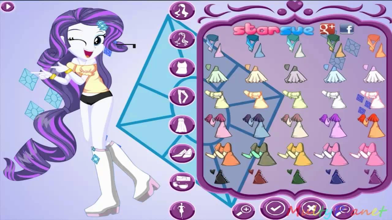 Мой маленький пони на русском Девушки Эквестрии стиль Рарити / MLP Girls Equestria style Rarity