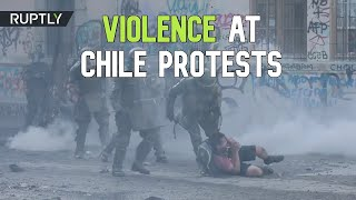 Violence escalates in Chile's mass protests, Santiago
