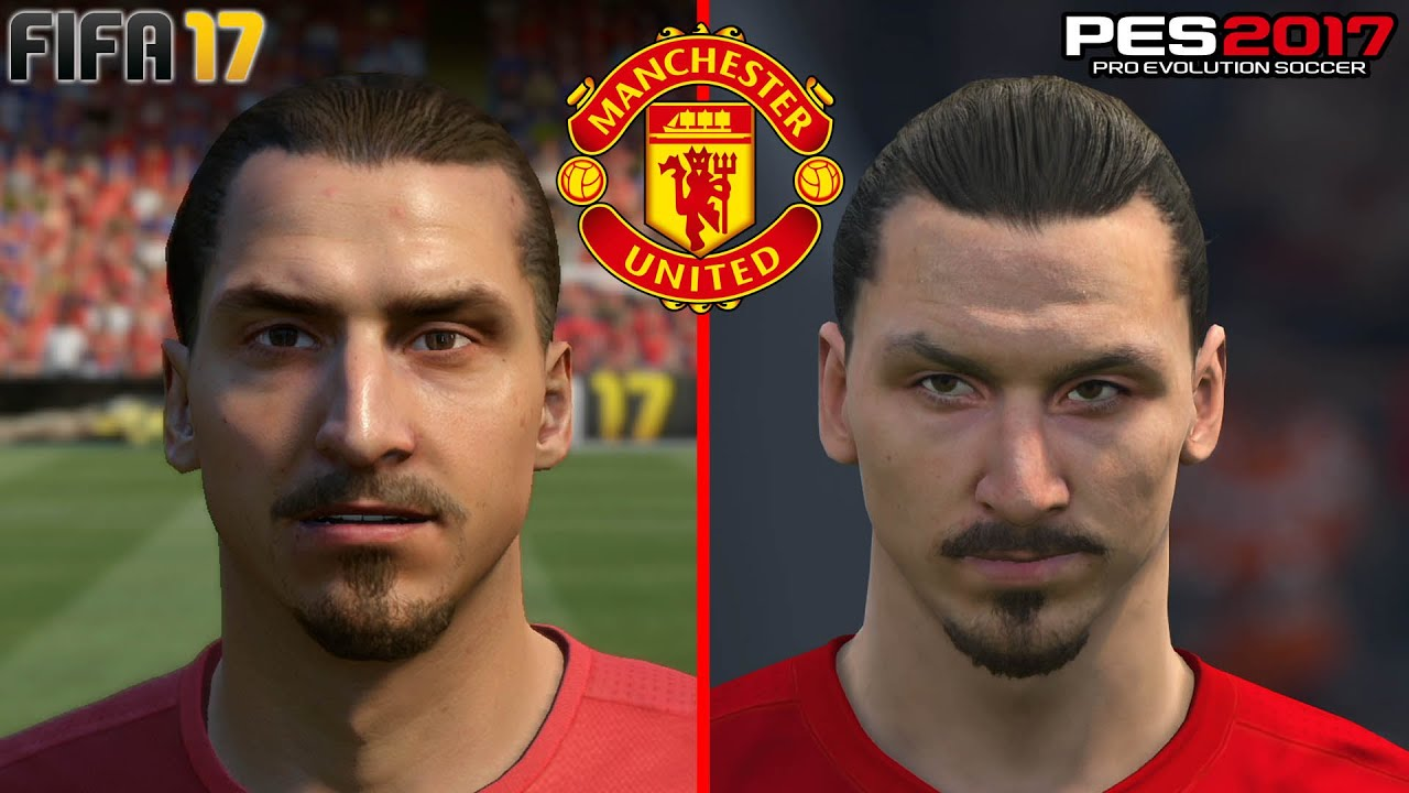 Fifa 17 vs pes 2017 manchester united face comparison ps4 fifa 17 vs pes 2017 manchester united face comparison ps4 1080p hd youtube voltagebd Image collections