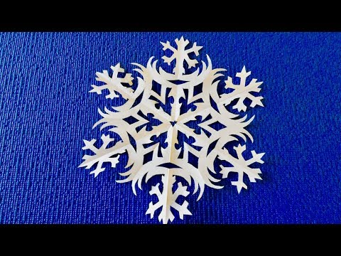 Making easy paper snowflakes. How to cut paper snowflakes. Try you will