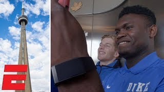 Zion Williamson, RJ Barrett, Duke Blue Devils explore CN Tower in Toronto | College Basketball