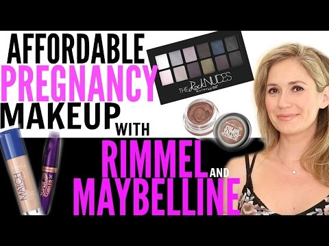Affordable Pregnancy Makeup with Ashley Jones , Maybelline, and Rimmel