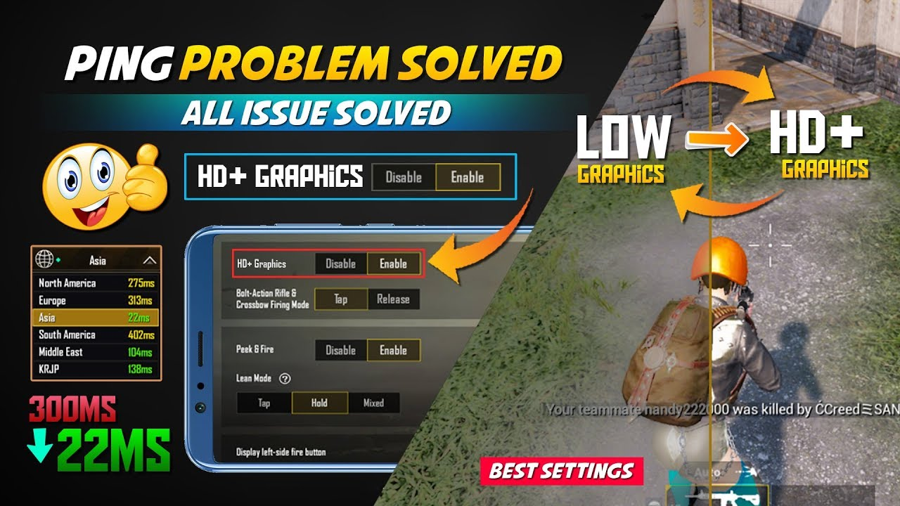PUBG lag Fix Android and High Ping Problem without id Ban Best GFX Tool for  Mobile users