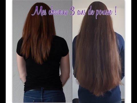 Pousse cheveux en 1 an