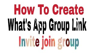 Baixar How To Create What's app Group Invite link !! 2017 !! India digital digi
