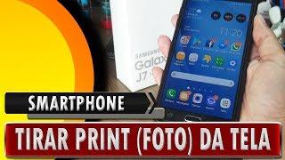 🔸 Como tirar print da tela do celular Samsung Galaxy fácil e rápido - 2018