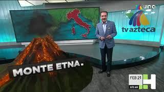 La actividad volcánica del Popocatépetl, Etna y el Pacaya