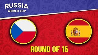 FIFA World Cup 2018   Česko - Španělsko   Round of 16   CZ/SK