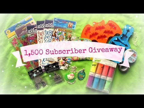 1,500 Subscribers Giveaway - International - CLOSED
