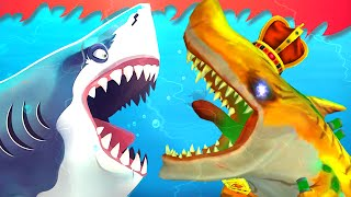 Atomic Shark Eats Megalodons !!!! | Hungry Shark World