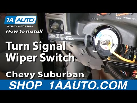 How To Replace Turn Signal Wiper Switch Chevy Suburban 88-98 1 PART 2