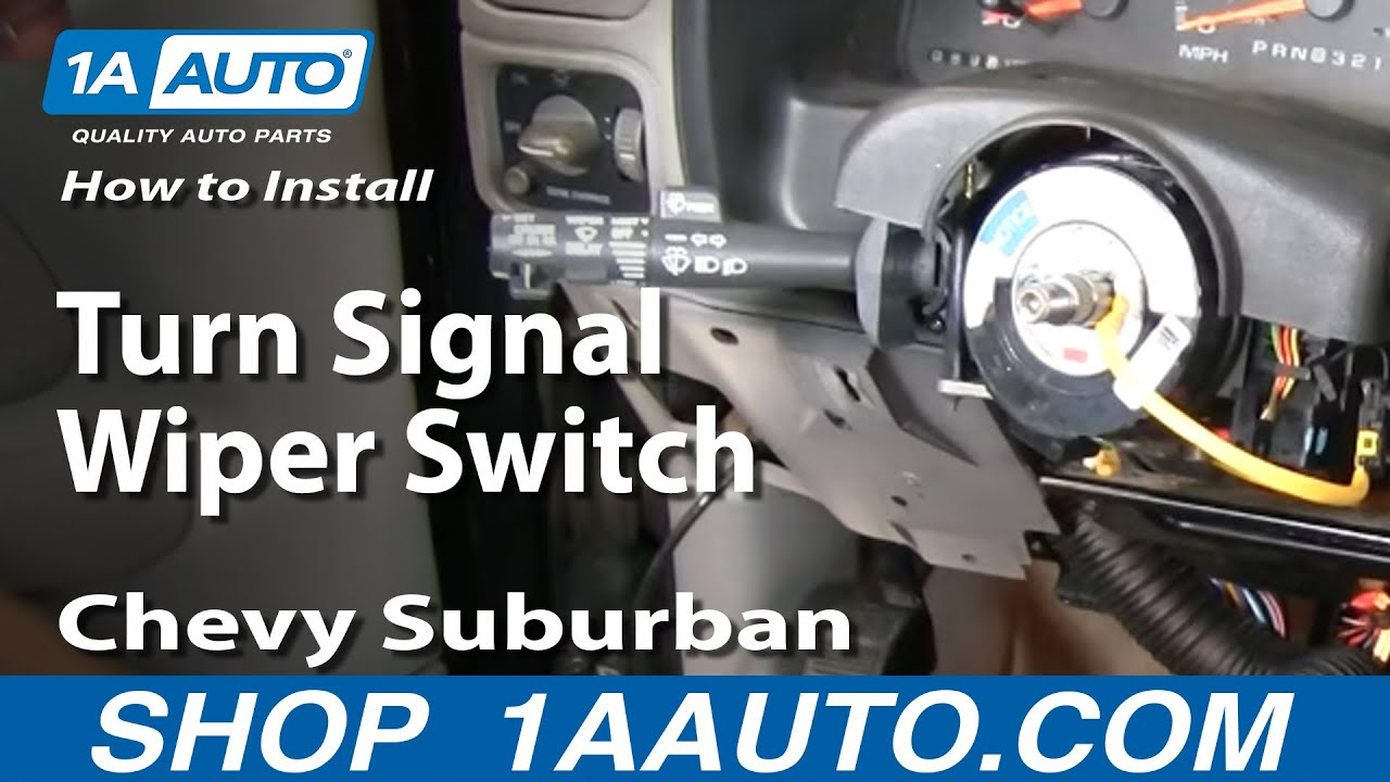 How To Install Replace PART 2 Turn Signal Wiper Switch Chevy GMC ...