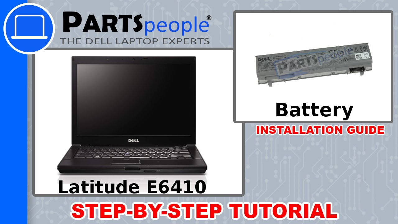 Dell Latitude E6410 Battery How To Video Tutorial Youtube