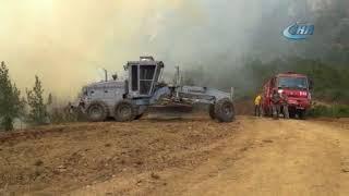 Hatay daki orman yangınını söndürme çalışmaları devam ediyor Hatayinternettv com