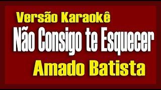 Amado Batista - Não Consigo Te Esquecer - Karaokê