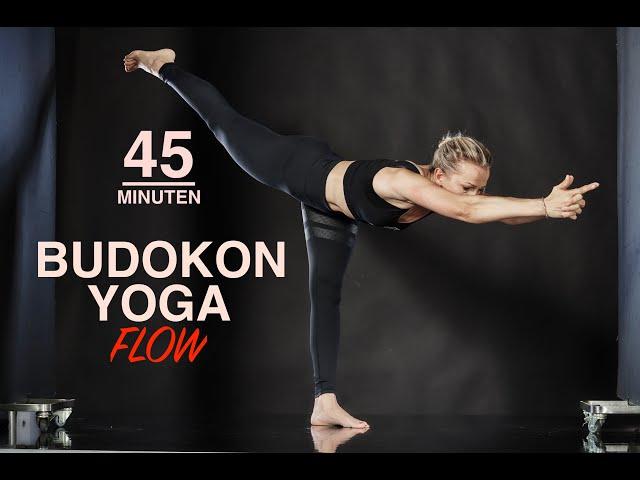 Budokon Yoga Flow 45min| Core Stärkung| Power Yoga| Kraft, Herausforderung, Ausdauer| Yin Yang Yoga