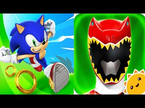 Sonic dash vs power rangers dino charge youtube - Sonic power rangers dino charge ...