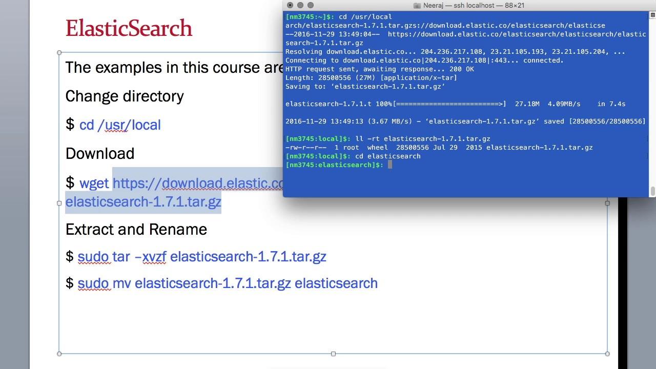 How to download ElasticSearch on MacBook