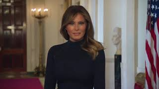 Melania Trump discusses coronavirus response with wife of German president